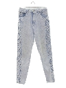 Womens High Waisted Totally 80s Acid Washed Denim Jeans Pants