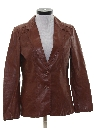 Womens Leather Blazer Sport Coat Jacket