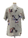Mens Asian Style Hawaiian Shirt