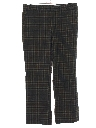 Mens Mod Plaid Slacks Pants