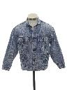 Mens/Boys Totally 80s Acid Washed Denim Jacket