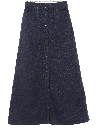 Womens Levis Maxi Denim Skirt