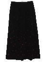 Womens Mod Velvet Maxi Skirt