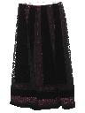 Womens Maxi Velvet Hippie Skirt