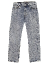 Mens Totally 80s Levis 501 Acid Washed Denim Jeans Pants