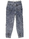 Womens Totally 80s High Waisted Acid Washed Denim Jeans Pants