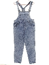 Womens Totally 80s Acid Washed Denim Overalls