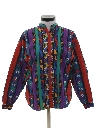 Womens Totally 80s Geometric Print Western Shirt
