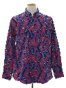 Mens Totally 80s Geometric Print Western Shirt