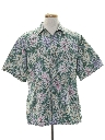 Mens Hawaiian Reverse Print Shirt