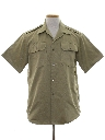 Mens Army Safari Style Shirt