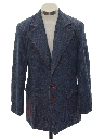 Mens Mod Denim Disco Blazer Sportcoat Jacket