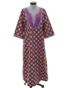 Womens Caftan Hippie Dress