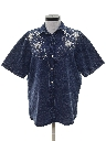 Womens Denim Western Style Hippie Shirt