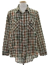 Mens Plaid Print Shirt