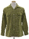 Mens Mod Wool Blend Board Style Sport Shirt