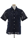 Mens Mod Knit Sheer Sport Shirt
