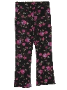 Womens Flared Cropped Pajama Pants