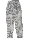 Womens Totally 80s High Waisted Pinstriped Slacks Pants