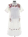 Womens Embroidered Hippie Dress