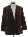 Womens Velvet Boyfriend Style Blazer Sport Coat Jacket