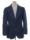 Mens Denim Blazer Sport Coat Jacket