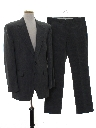 Mens Matching 2 Piece Pinstriped Suit