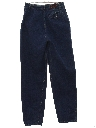 Womens Totally 80s High Waisted Pleated Tapered Leg Denim Jeans Pants