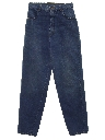 Womens Totally 80s High Waisted Tapered Leg Denim Jeans Pants