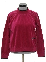 Womens Totally 80s Velour Shirt