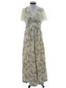 Womens Maxi Prairie Hippie Dress
