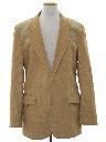Mens Corduroy Western Style Blazer Sport Coat Jacket