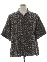 Mens Totally 80s Silk Graphic Print Shirt