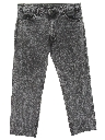 Mens Totally 80s Acid Washed Jeans Pants