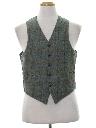 Mens Mod Reversible Wool Suit Vest