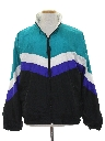 Mens Totally 80s Wind Breaker Zip Jacket