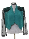 Womens Totally 80s Cocktail Shirt Jacket