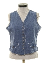Womens Denim Hippie Vest Style Shirt