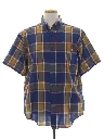 Mens Totally 80s Plaid Preppy Shirt