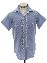 Unisex Embroidered Chambray Hippie Shirt