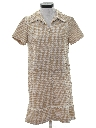 Womens Mod Drop Waist Knit Shift Dress