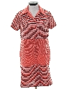 Womens Mod Knit Shift Dress