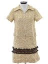 Womens Mod Knit Shift Mini Dress