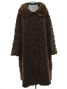 Womens Wool and Fur Duster Jacket