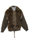 Womens Totally 80s Leather and Fur Jacket