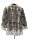 Womens Totally 80s Faux Fur Coat Jacket
