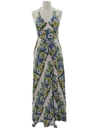 Womens Hippie Maxi Halter Dress