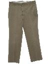Mens Mod Flat Front Khaki Pants