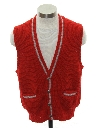 Mens Mod Letterman Style Sweater Vest