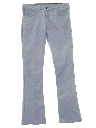 Mens Wide Flared Jeans-cut Pants
